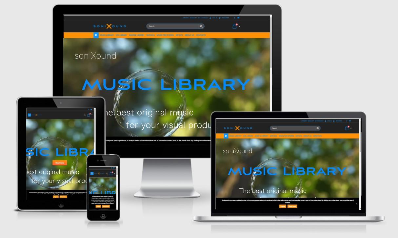 Изработка на онлайн магазин с мобилна версия за продажба на музика, звуци, лупове, изработен от GS-WebCreator